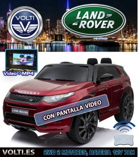 LAND ROVER DISCOVERY SPORT CON PANTALLA VIDEO COLOR GRANATE METALIZADO PINTADO