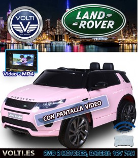 LAND ROVER DISCOVERY SPORT CON PANTALLA VIDEO COLOR ROSA