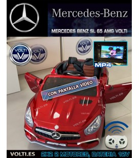 COCHE MERCEDES BENZ AMG SL 65 COLOR GRANATE METALIZADO PINTADO