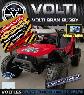 BUGGY 24V 220 WATIOS TODOTERRENO 4X4 4 MOTORES 55 WATIOS 4 PLAZAS