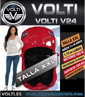 COCHE ELECTRICO VOLTI V24 EXTRA GRANDE CONDUCCION REAL