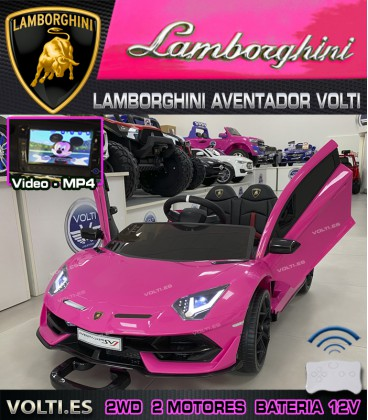 LAMBORGHINI AVENTADOR CON PANTALLA VIDEO COLOR ROJO