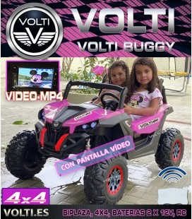 BUGGY 180 WATIOS 4 SUPERMOTORES  45 W DOBLE BATERIA PANTALLA VIDEO