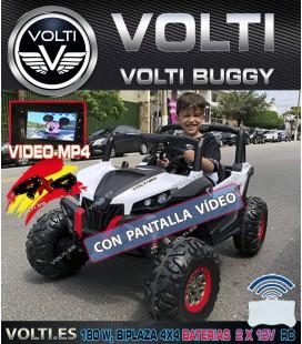 BUGGY 180 WATIOS 4 SUPERMOTORES DE 45 WATIOS, DOBLE BATERIA DE 12V+12V, BIPLAZA Y PANTALLA DE VIDEO