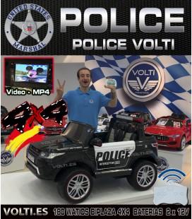COCHE POLICIA 180 WATIOS TODOTERRENO 4 MOTORES BIPLAZA PANTALLA VIDEO