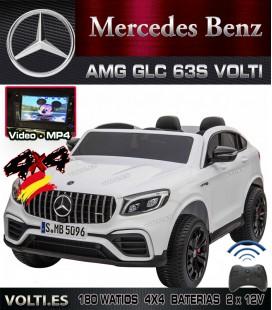 MERCEDES BIPLAZA GLC 63S 180 WATIOS 4 MOTORES PANTALLA VIDEO TRACION TOTAL