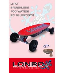 LONBO skate electrico litio, motor 700 Watios, motor Brushless