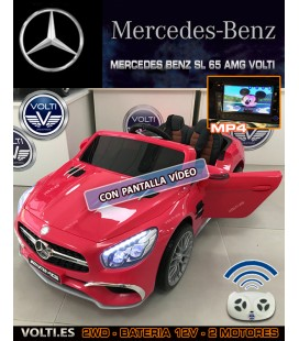 COCHE MERCEDES BENZ AMG SL 65 COLOR ROJO