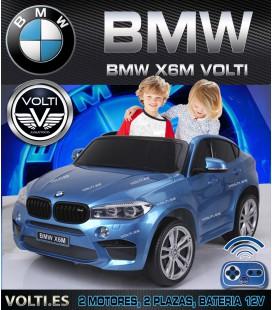 BMW X6 M BIPLAZA 240 WATIOS CON SUPER MOTORES, PINTADO EN COLOR AZUL METALIZADO