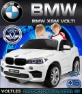 BMW X6 M BIPLAZA COLOR BLANCO PARA NIÑOS