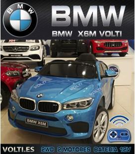 BMW X6M COCHE ELECTRICO PARA NIÑOS COLOR AZUL METALIZADO