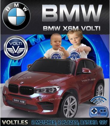 BMW X6 M BIPLAZA PARA NIÑOS PINTADO EN BURDEOS